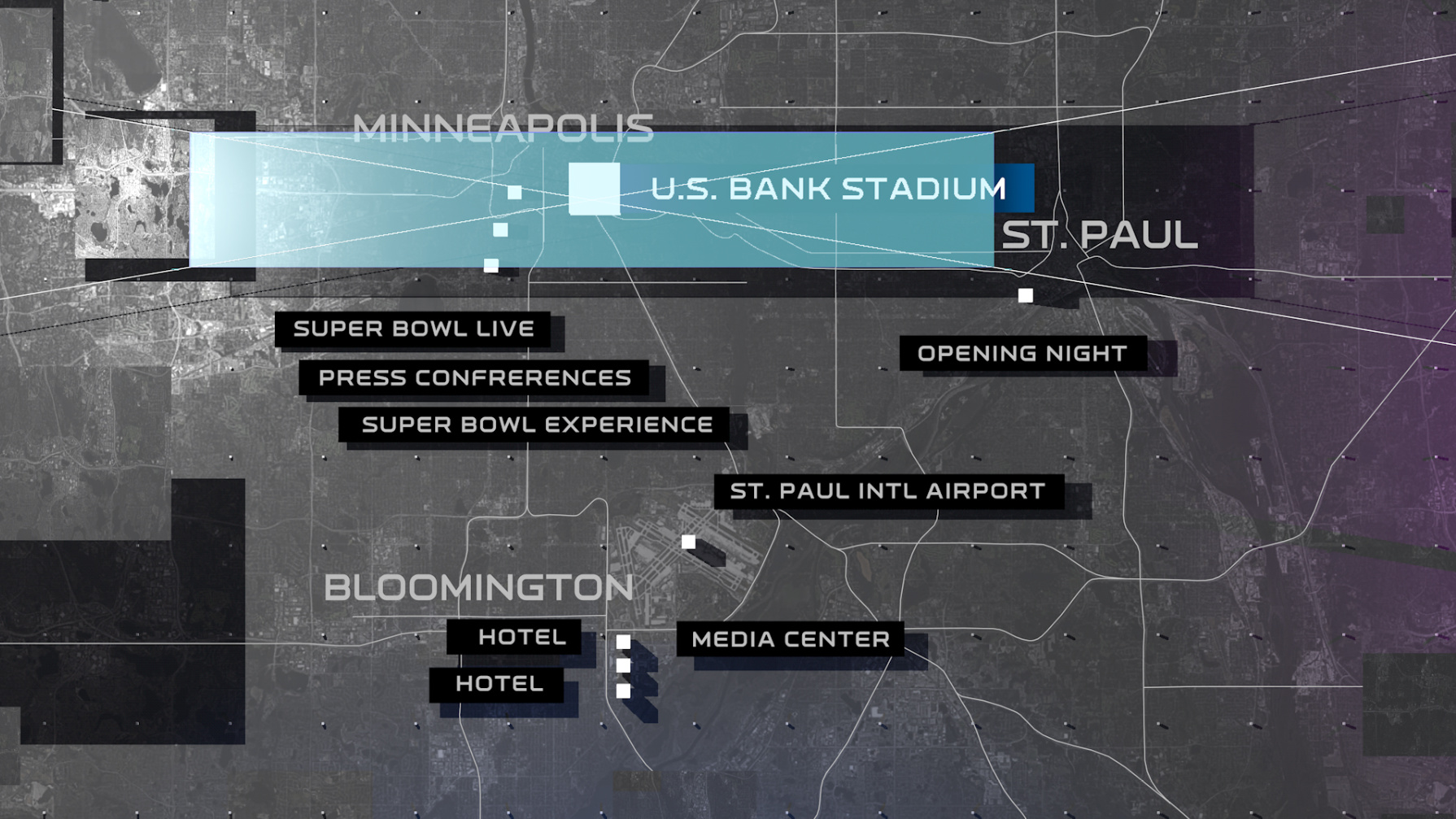 NFL Network | Super Bowl Maps